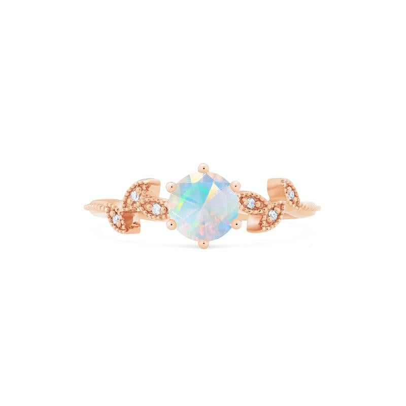 [Dahlia] Petite Floral Ring in Opal