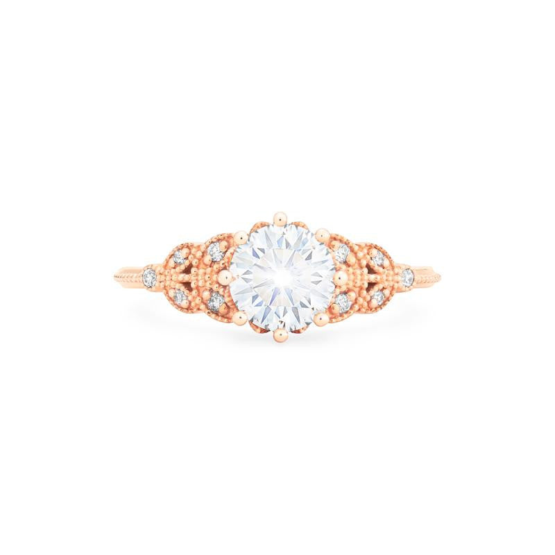 [Kerensa] Classic Floral Ring in Moissanite - Michellia Fine Jewelry