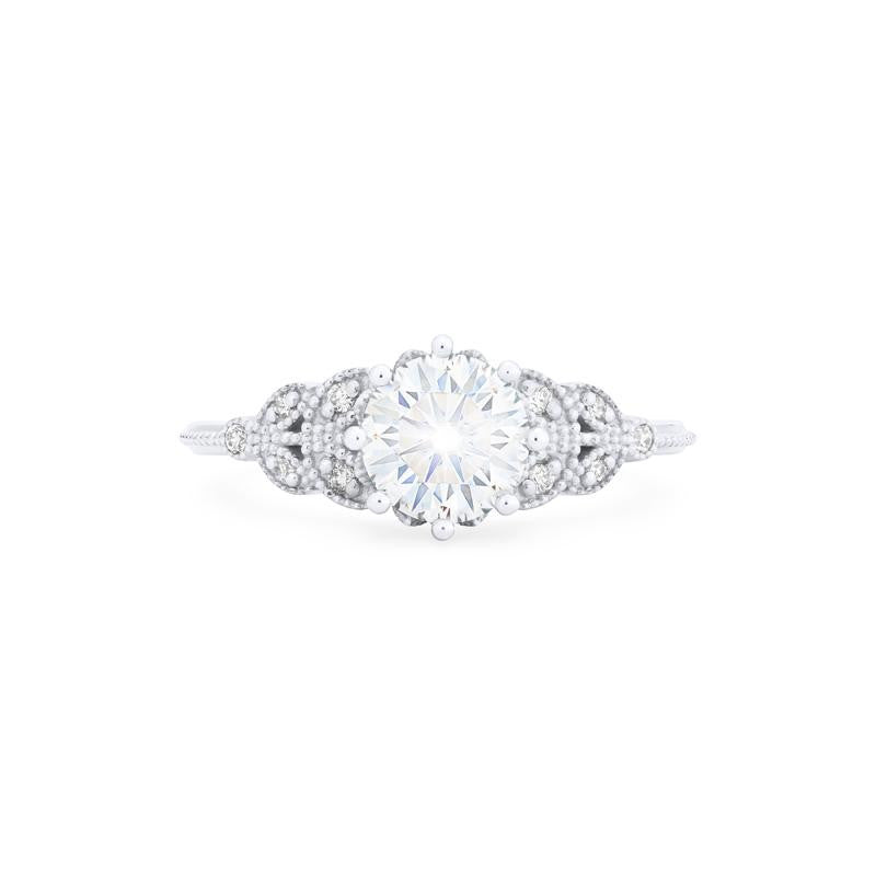 [Kerensa] Ready-to-Ship Classic Floral Ring in Moissanite - Women's Ring - Michellia Fine Jewelry