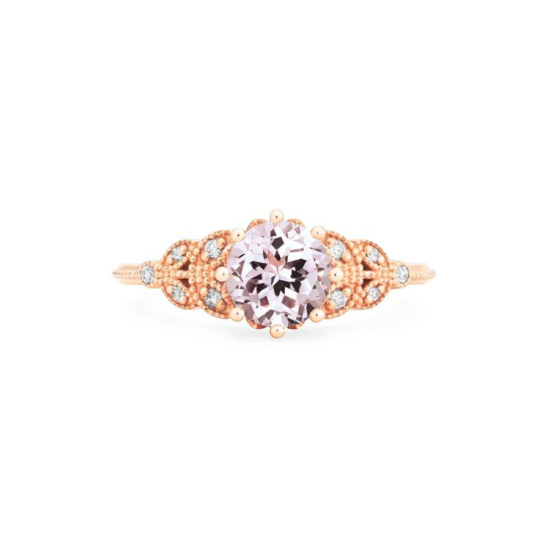 [Kerensa] Classic Floral Ring in Morganite - Michellia Fine Jewelry