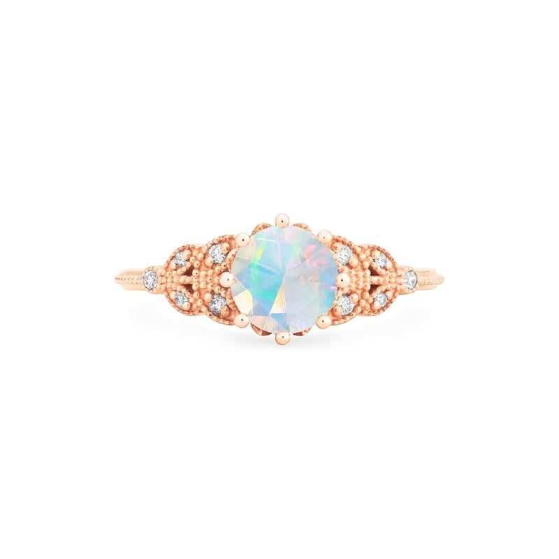 [Kerensa] Classic Floral Ring in Opal