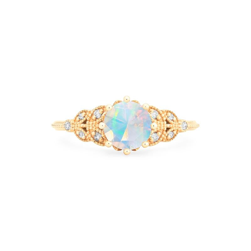 [Kerensa] Ready-to-Ship Classic Floral Ring in Opal - Women's Ring - Michellia Fine Jewelry
