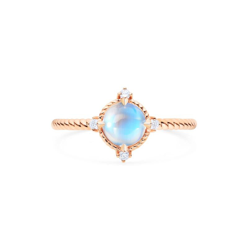 [Stella] Ready-to-Ship Aura of Galaxy Ring in Moonstone - Women's Ring - Michellia Fine Jewelry