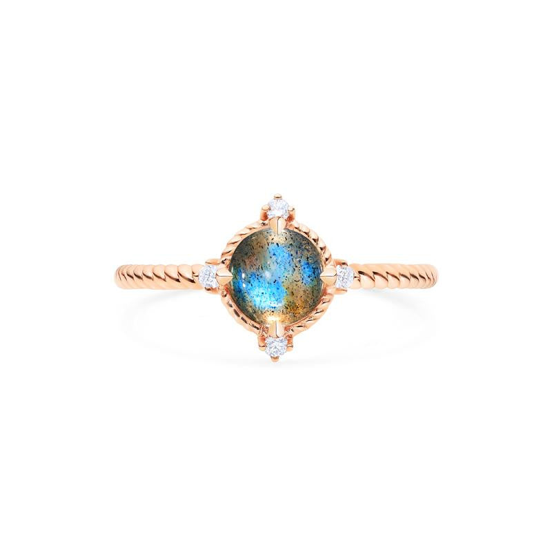 [Stella] Aura of Galaxy Ring in Labradorite - Michellia Fine Jewelry