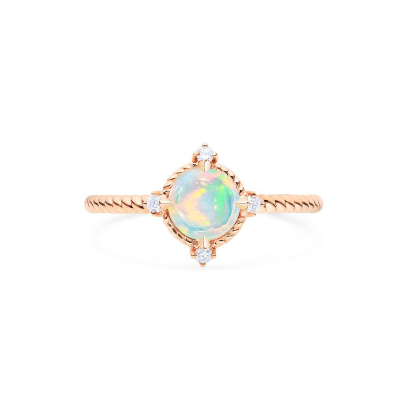 [Stella] Aura of Galaxy Ring in Australian Opal - Women's Ring - Michellia Fine Jewelry