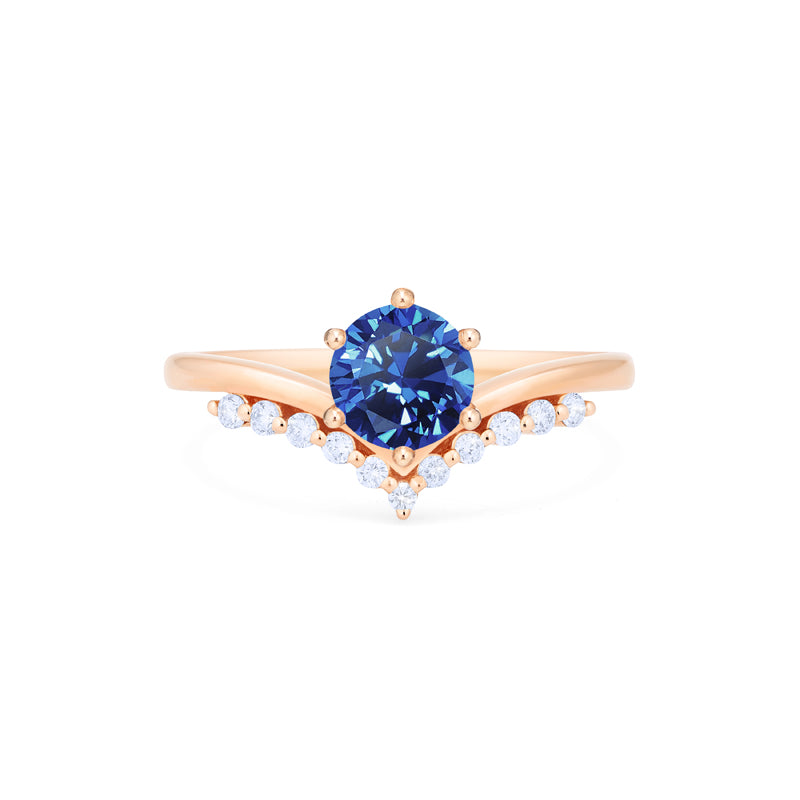 [Diane] Moonwake Ring in Lab Blue Sapphire - Michellia Fine Jewelry