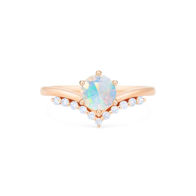 [Diane] Moonwake Ring in Opal - Michellia Fine Jewelry