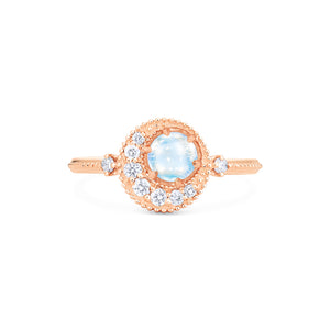 [Luna] Ready-to-Ship Crescent Moon Ring in Moonstone - Women's Ring - Michellia Fine Jewelry