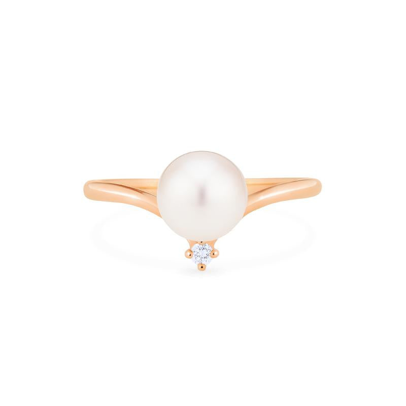 [Aisha] Moonrise Ring in Akoya Pearl - Women's Ring - Michellia Fine Jewelry