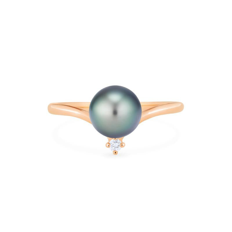 [Aisha] Moonrise Ring in Tahitian Pearl - Michellia Fine Jewelry