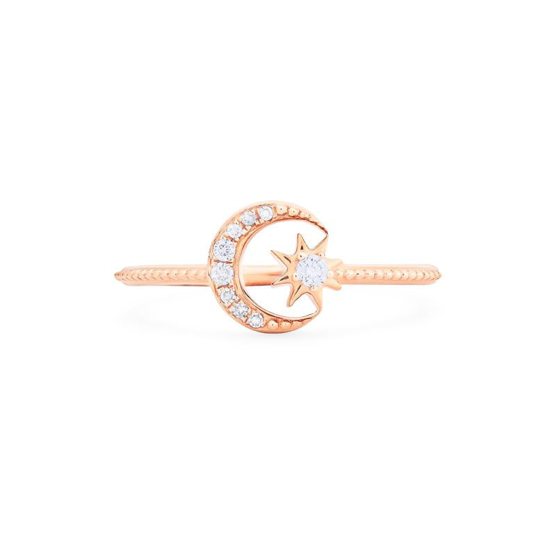 [Divina] Diamond Moon and Star Ring - Women's Ring - Michellia Fine Jewelry