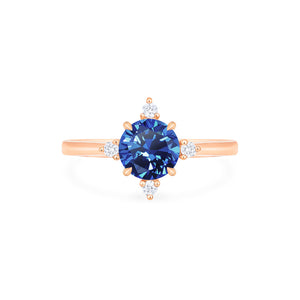 [Polaris] North Star Ring in Lab Blue Sapphire - Women's Ring - Michellia Fine Jewelry