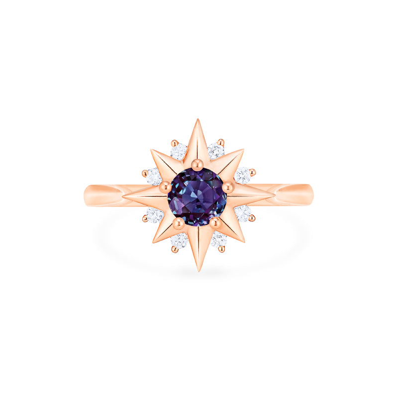 [Astra] Starlight Ring in Lab Alexandrite - Women's Ring - Michellia Fine Jewelry