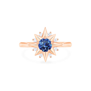[Astra] Starlight Ring in Lab Blue Sapphire - Women's Ring - Michellia Fine Jewelry