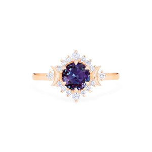 [Selene] Moon Goddess Ring in Lab Alexandrite - Women's Ring - Michellia Fine Jewelry