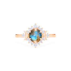 [Selene] Moon Goddess Ring in Labradorite - Women's Ring - Michellia Fine Jewelry