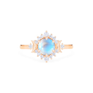 [Selene] Moon Goddess Ring in Moonstone - Women's Ring - Michellia Fine Jewelry