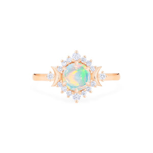 [Selene] Moon Goddess Ring in Australian Opal - Women's Ring - Michellia Fine Jewelry