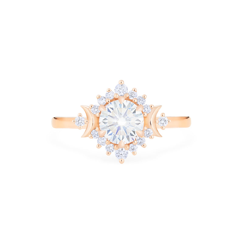 [Selene] Moon Goddess Ring in Moissanite - Women's Ring - Michellia Fine Jewelry