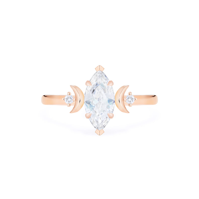 [Cressida] Moon Goddess Marquise Cut Ring in Moissanite - Women's Ring - Michellia Fine Jewelry