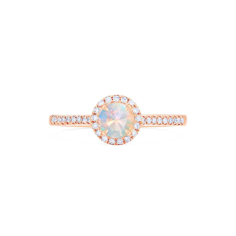 [Nova] Petite Halo Diamond Ring in Opal - Women's Ring - Michellia Fine Jewelry