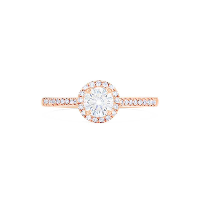 [Nova] Petite Halo Diamond Ring in Moissanite - Women's Ring - Michellia Fine Jewelry