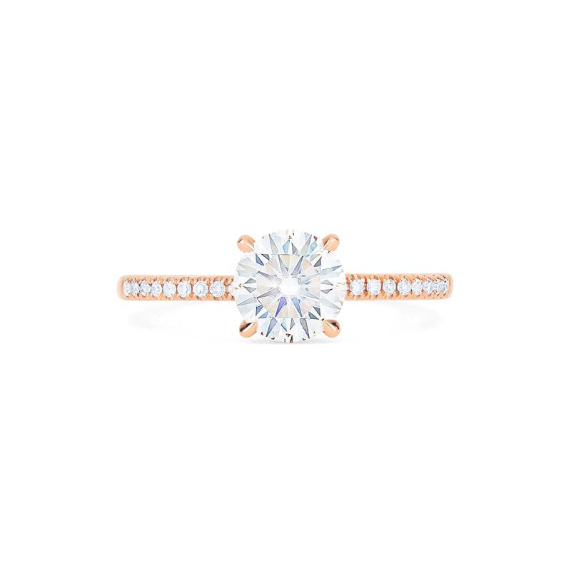 [Celia] Modern Classic Solitaire Ring in Moissanite - Michellia Fine Jewelry