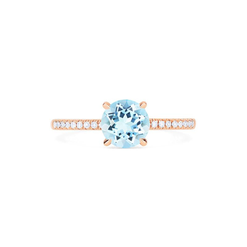 [Celia] Modern Classic Solitaire Ring in Aquamarine - Women's Ring - Michellia Fine Jewelry