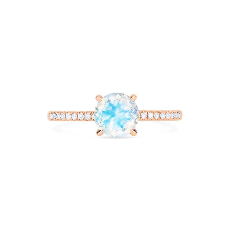[Celia] Modern Classic Solitaire Ring in Moonstone - Women's Ring - Michellia Fine Jewelry