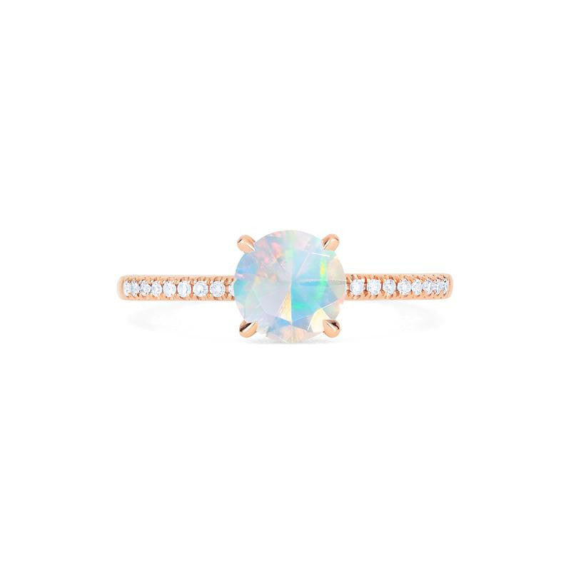 [Celia] Modern Classic Solitaire Ring in Opal - Women's Ring - Michellia Fine Jewelry