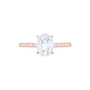 [Elaine] Modern Classic Oval Solitaire Ring in Moissanite - Women's Ring - Michellia Fine Jewelry