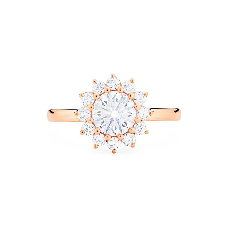 [Rosalie] Vintage Bloom Ring in Moissanite - Women's Ring - Michellia Fine Jewelry