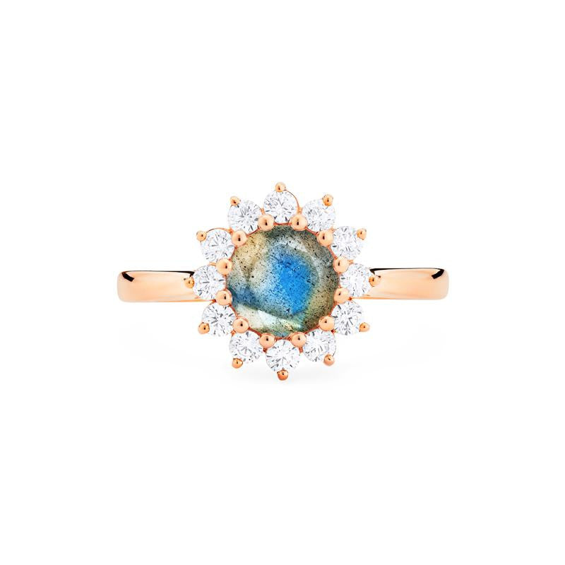 [Rosalie] Vinage Bloom Ring in Labradorite - Michellia Fine Jewelry