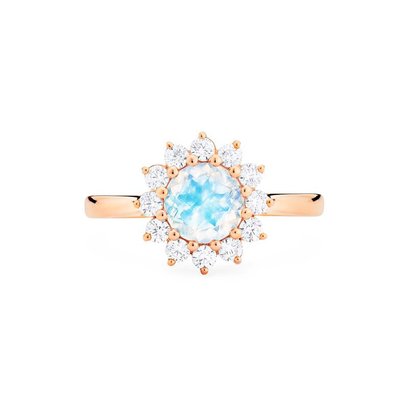 [Rosalie] Vintage Bloom Ring in Moonstone - Women's Ring - Michellia Fine Jewelry