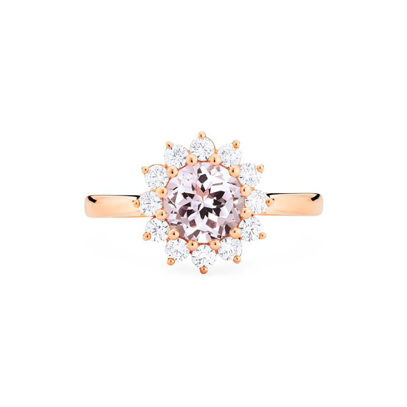 [Rosalie] Vinage Bloom Ring in Morganite - Michellia Fine Jewelry