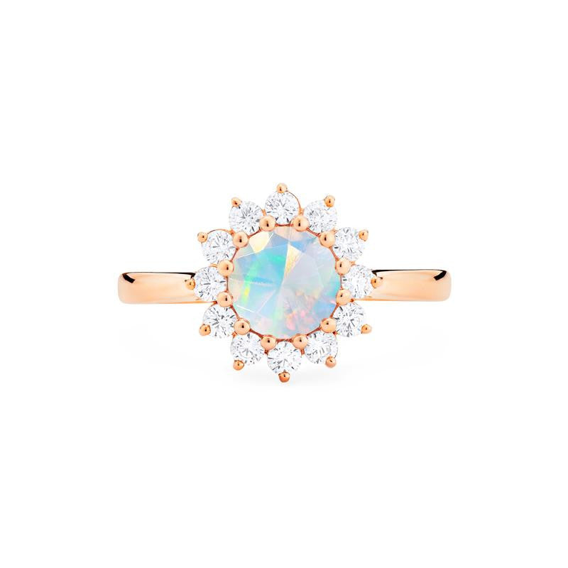 [Rosalie] Vinage Bloom Ring in Opal