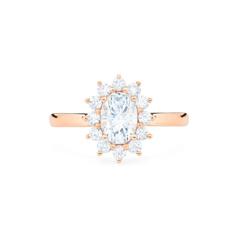 [Julianne] Vinage Bloom Oval Cut Ring in Moissanite - Michellia Fine Jewelry