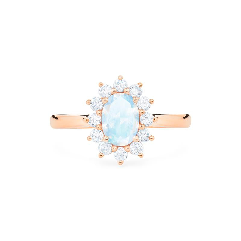 [Julianne] Vintage Bloom Oval Cut Ring in Moonstone - Women's Ring - Michellia Fine Jewelry
