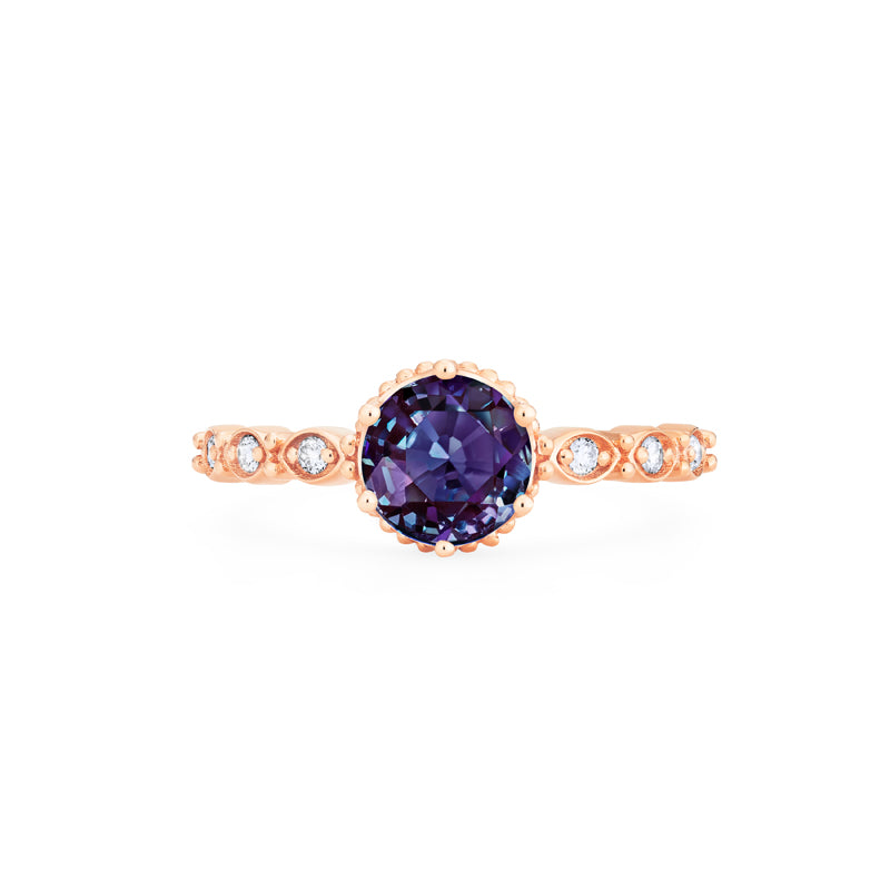 [Evelyn] Vintage Classic Crown Ring in Lab Alexandrite - Women's Ring - Michellia Fine Jewelry