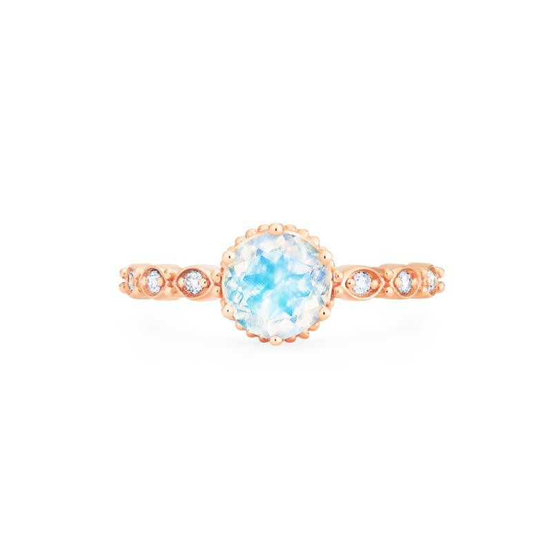 [Evelyn] Vintage Classic Crown Ring in Moonstone - Women's Ring - Michellia Fine Jewelry