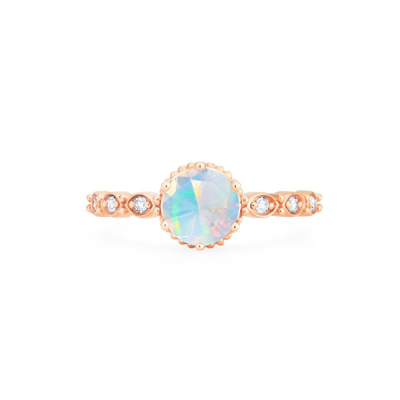 [Evelyn] Vintage Classic Crown Ring in Opal - Michellia Fine Jewelry