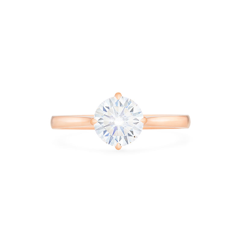 [Marguerite] Victorian Solitaire Ring in Moissanite - Women's Ring - Michellia Fine Jewelry