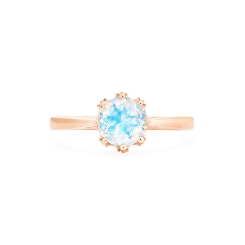 [Cassandra] Vintage Crown Solitaire Ring in Moonstone - Women's Ring - Michellia Fine Jewelry