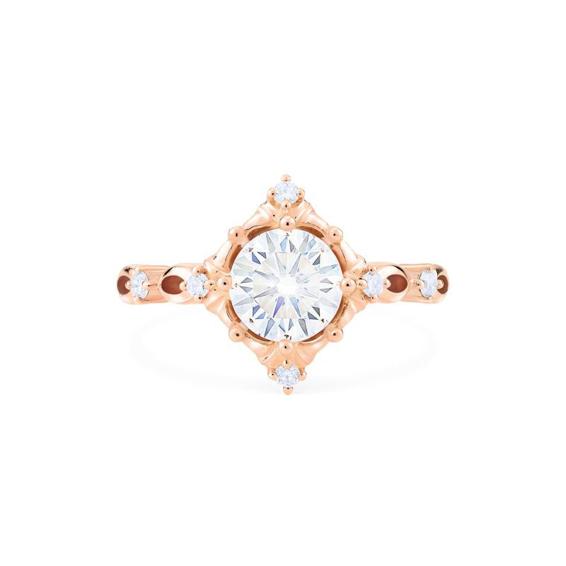 [Annalise] Victorian Heirloom Ring in Moissanite - Michellia Fine Jewelry