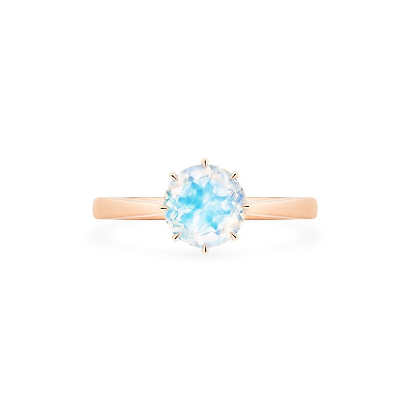 [Victoria] Ready-to-Ship Classic Crown Solitaire Ring in Moonstone - Women's Ring - Michellia Fine Jewelry