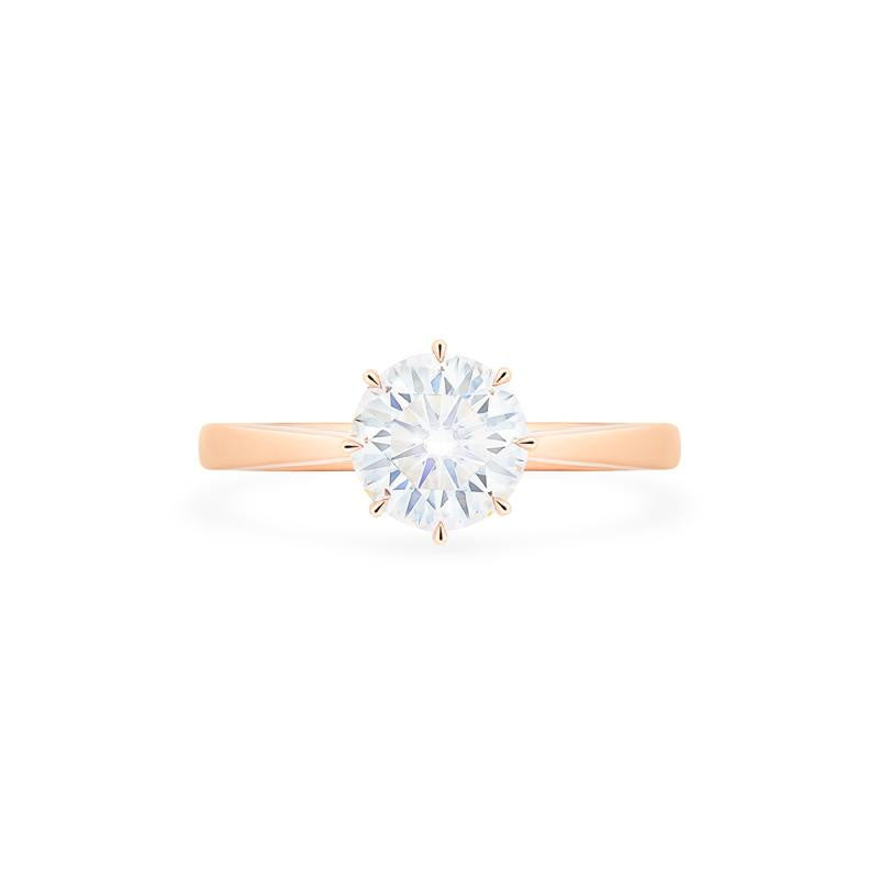 [Victoria] Classic Crown Solitaire Ring in Moissanite - Michellia Fine Jewelry