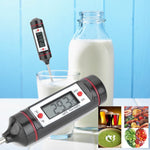 "-50-300°C 0.9"" LCD Food Thermometer with LR44 Battery for Milk Meat Soup"