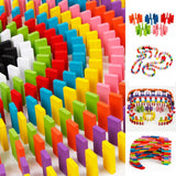 120pcs 12 Colors Rainbow Dominoes Wooden Kids Educational Toy Gift