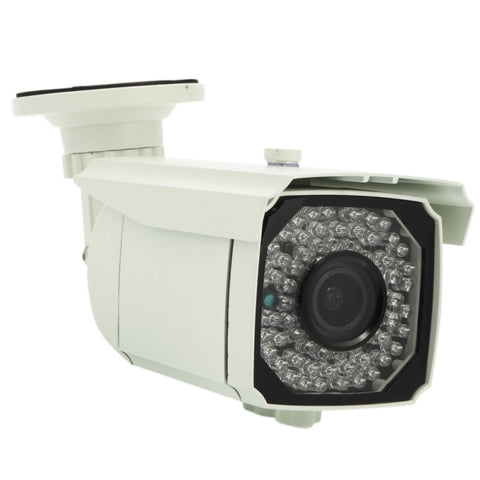 1/3 Sony CMOS 1300TVL NTSC 2.8-12mm 66-LED Infrared Nightvision IR-CUT Zooming Waterproof Outdoor Bullet Security Camera White