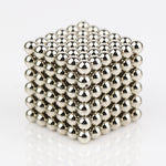 216pcs 5mm Neodymium Iron Boron NIB Magnetic Balls with Steel Case Silver